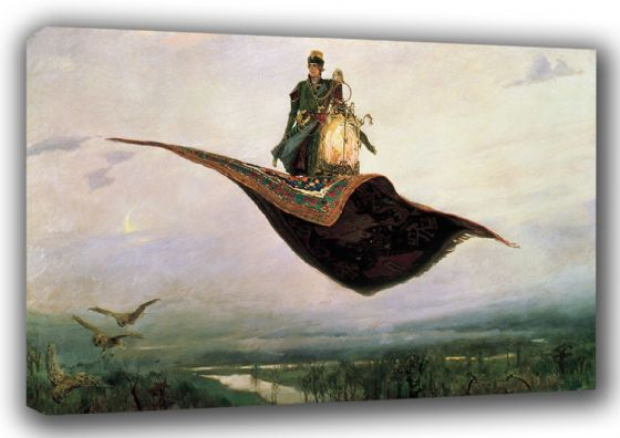 Vasnetsov, Viktor: The Magic Carpet. Fine Art Canvas. Sizes: A3/A2/A1 (00583)